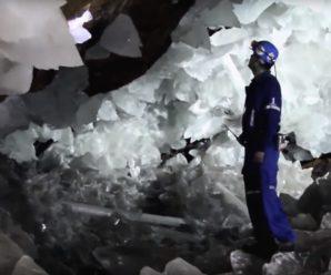 Громадные кристаллы обнаруженные на глубине 300 м под землей, они формировались полмиллиона лет