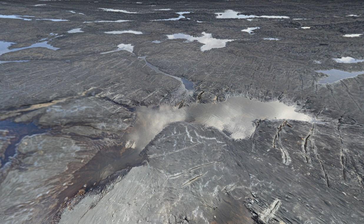 В огромном природном озере из жидкого асфальта Питч-Лейк учеными обнаружены живые микроорганизмы