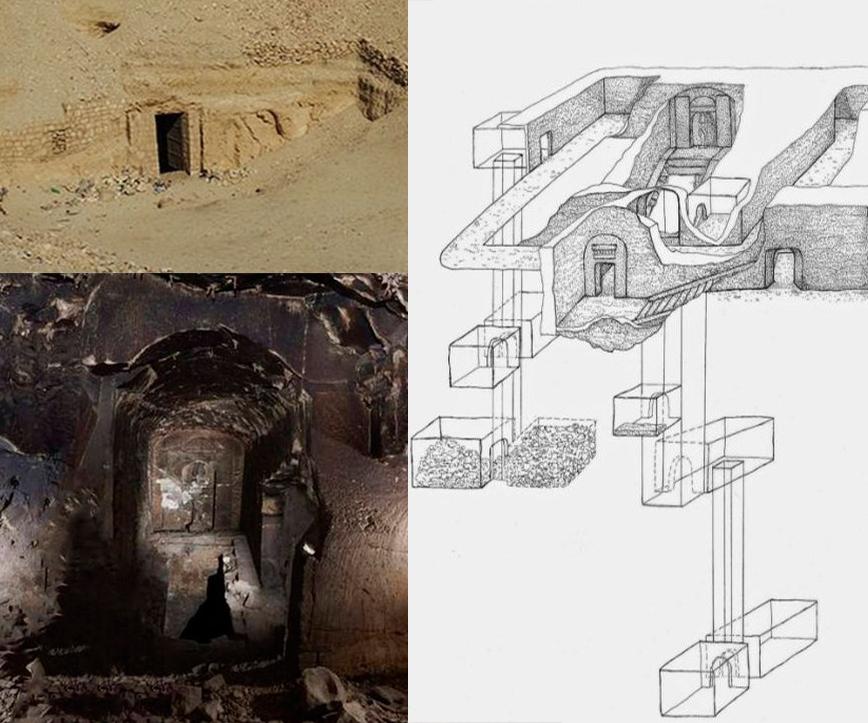Древняя гробница Осириса - царя загробного мира
