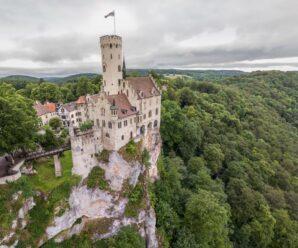 На самом краю обрыва — необычный замок Лихтенштайн, который возник благодаря историческому роману