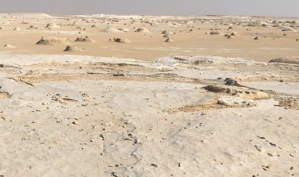 Белая пустыня в труднодоступном уголке Сахары