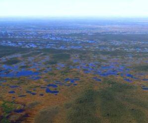 В Западной Сибири находится крупнейшая болотная система северного полушария планеты, которая продолжает расти