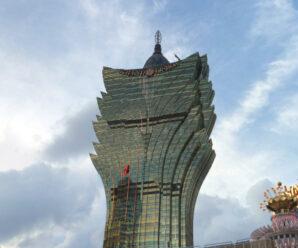 Необычной формы небоскрёб, напоминающий цветок лотоса — Grand Lisboa