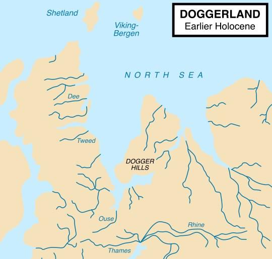 Ещё 10000 лет назад по дну Северного моря ходили люди - затонувшая