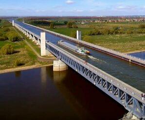 Судоходный канал, который подняли над рекой — Магдебургское пересечение водных путей