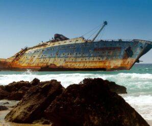 Этот корабль, словно символ ушедшей эпохи трансатлантических пассажирских рейсов — SS America