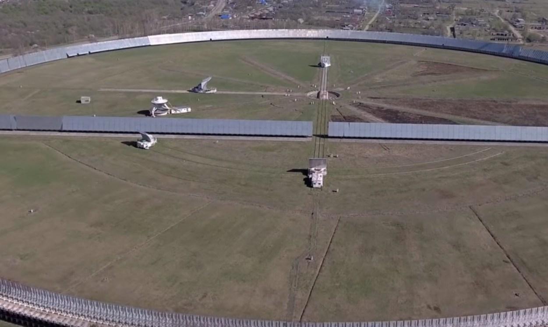 Российский радиотелескоп РАТАН-600 с самым крупным в мире рефлекторным зеркалом диаметром около 600 м