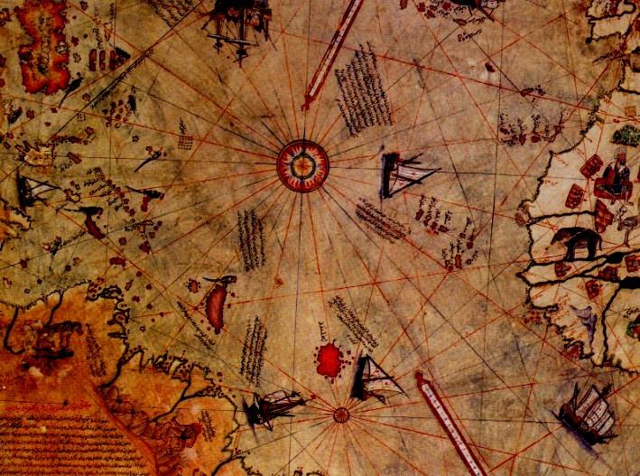 Невероятная древняя карта, на которой, предположительно, изображена даже Антарктида без ледяного покрова
