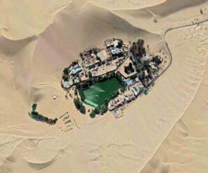 Городок в оазисе, среди песков пустыни — Уакачина