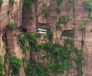 От опаснейшей пропасти водителя на этом шоссе порой отделяет лишь невысокий бордюр — Гуолян