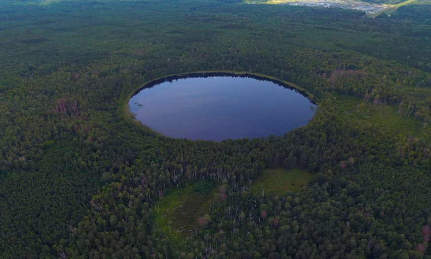 Мертвое озеро возле Леонидовки в Пензенской области, озеро Круглое