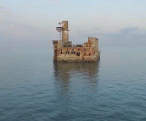 «Форт Бойяр» у Махачкалы — заброшенная советская испытательная станция морского оружия в Каспийском море