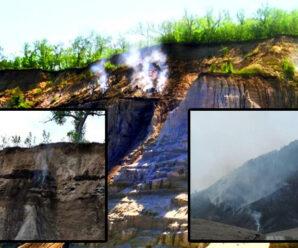 «Горящие горы» в Амурской области — удивительный геологический объект России