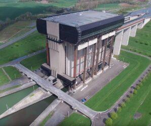Гигантский лифт для кораблей, который поднимает суда на 73,15 метра — судоподъёмник Стрепи-Тьё