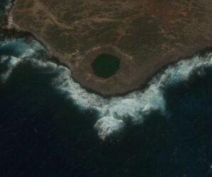 Место, где взорвали 500 тонн тротила для моделирования атомного взрыва — операция «Sailor Hat»