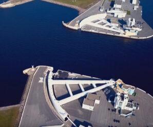 Циклопический затвор, защищающий Санкт-Петербург от затопления — судопропускное сооружение С-1