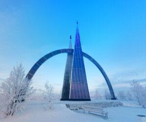 Салехард — единственный в России и во всём мире город, расположенный непосредственно на Полярном круге