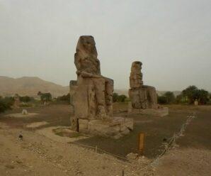 Гигантские статуи Древнего Египта, одна из которых когда-то издавала необычные звуки — Колоссы Мемнона