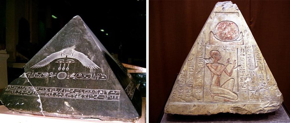Что находится на вершине египетских пирамид - пирамидионы и Бенбен