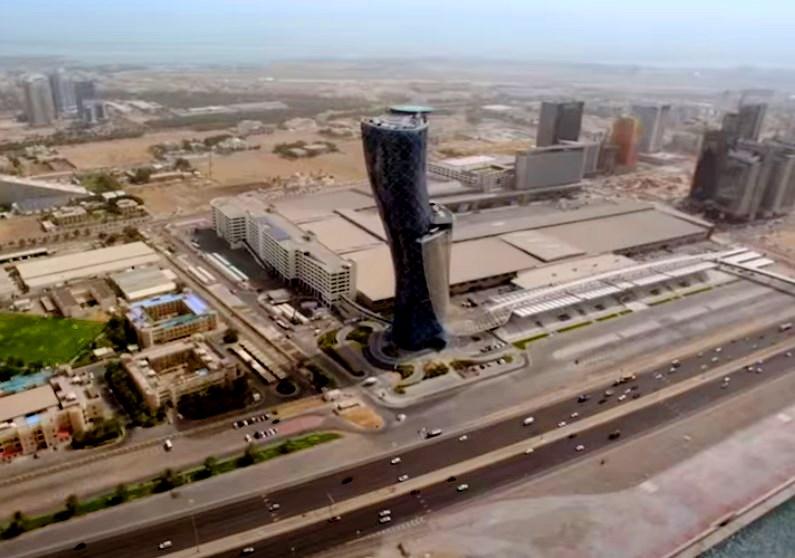 Небоскрёб с самым большим наклоном в мире - Capital Gate