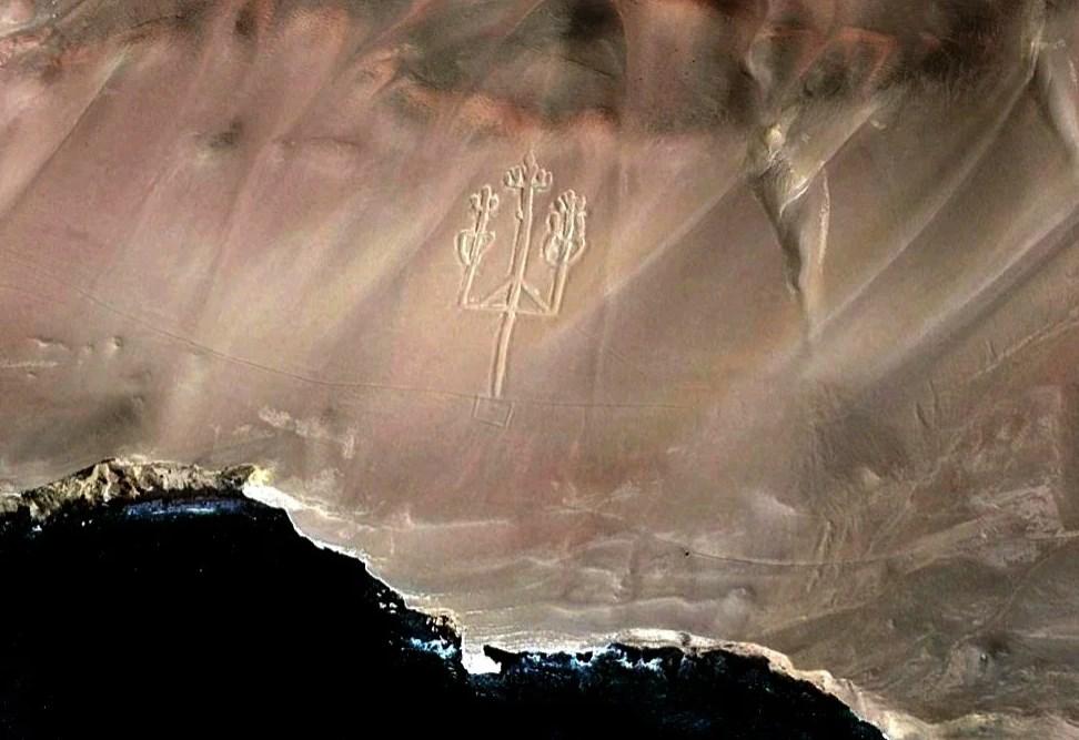 Фото из космоса - Андский канделябр