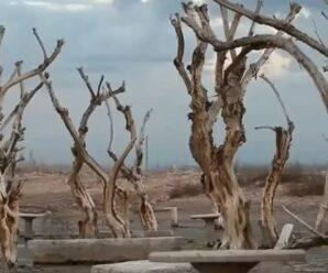 Город Лаго-Эпекуэн, который 30 лет был под водой, поднялся на поверхность