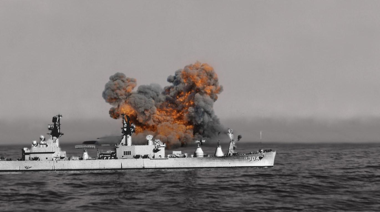 Воздействие на корабль взрыва 500 тонн тротила - эксперименты военных на острове Кахоолаве
